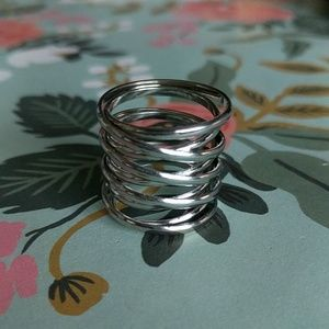 Size 7.4 silver spring ring